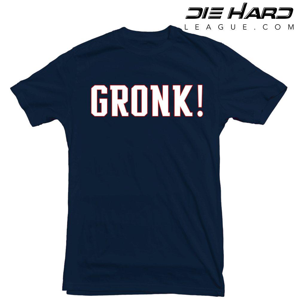 New England Patriots T Shirt Gronk Navy Tee