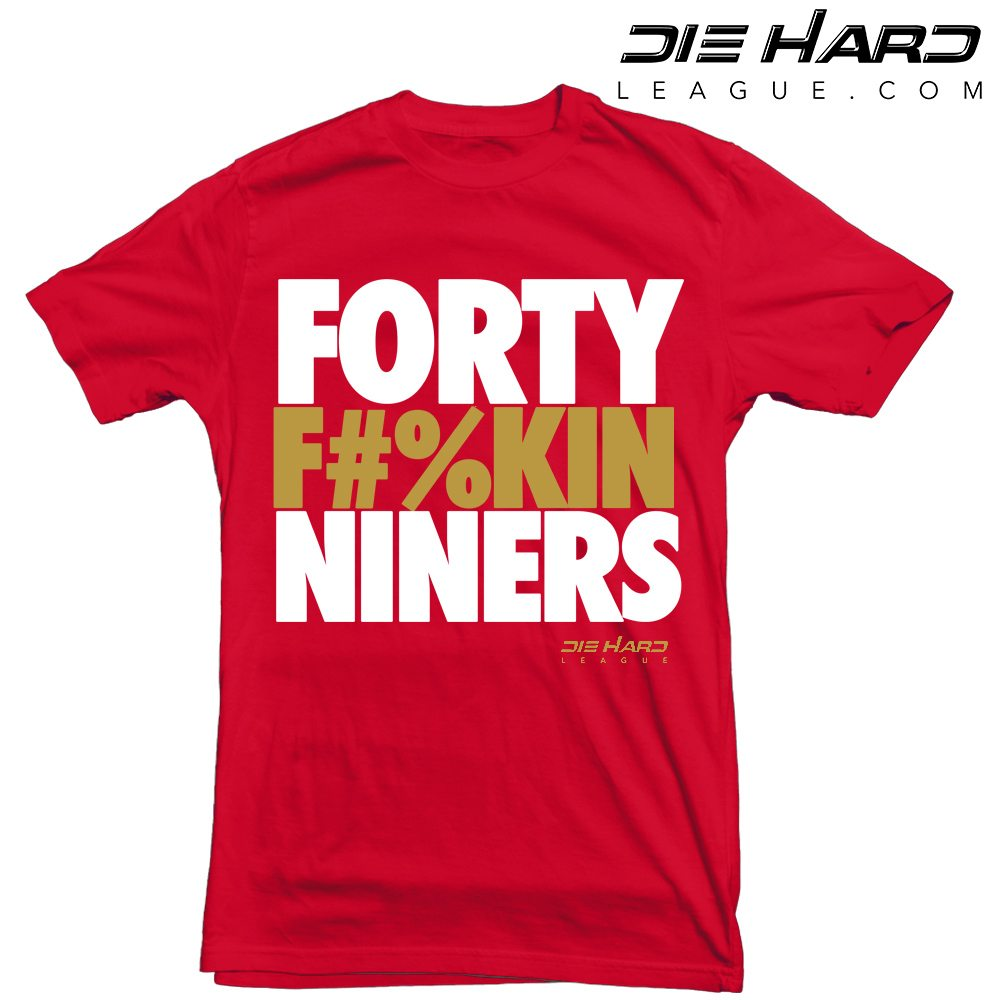 49ers news - san francisco 49ers forty fn niners red tee
