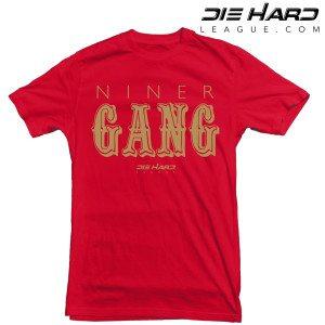 San Francisco 49ers T Shirt Niner Gang Red Tee