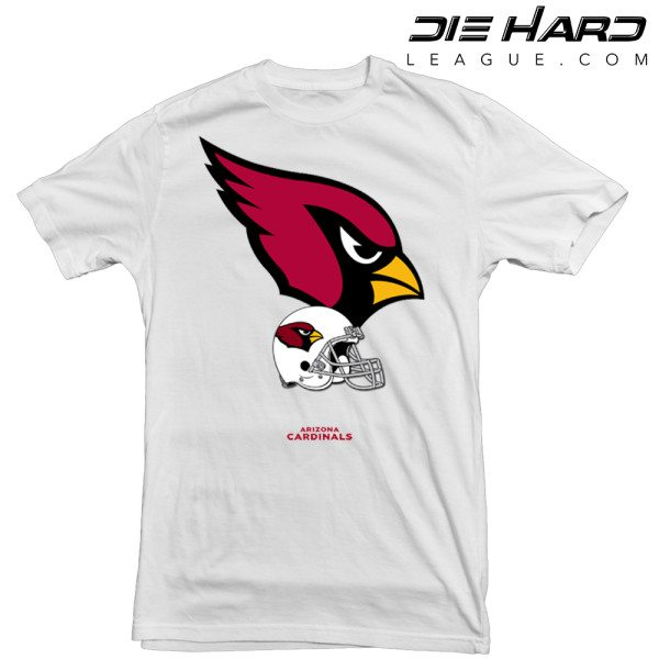 Arizona Cardinals T Shirt Logo Helmet White Tee