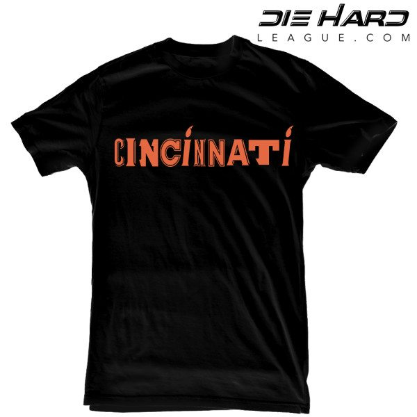 Cincinnati Bengals T Shirt - Cincinnati Logo Black Tee