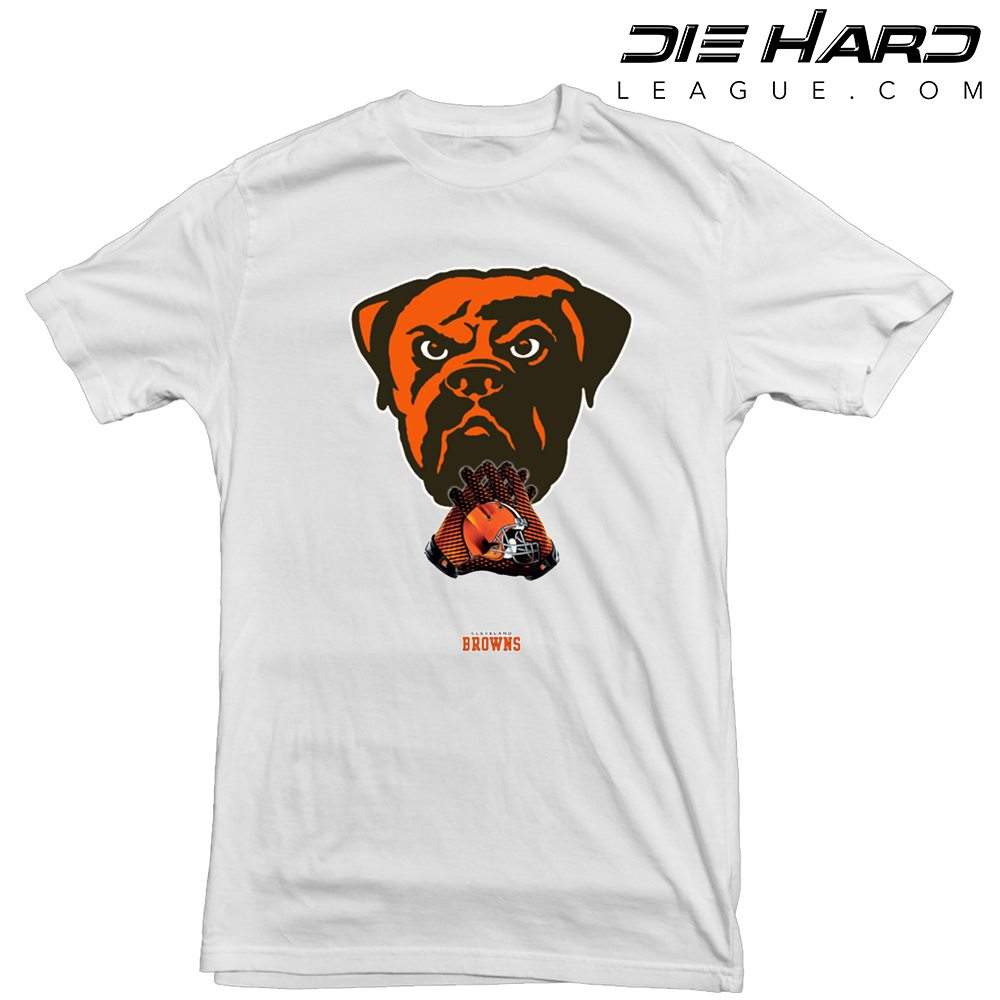 Cleveland browns t shirt dawg pound white tee for Cleveland t shirt printing