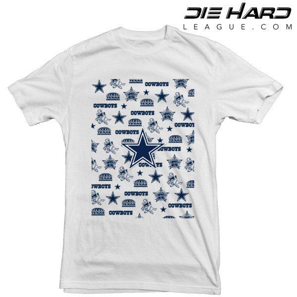 Dallas Cowboys T Shirt Logos White Tee