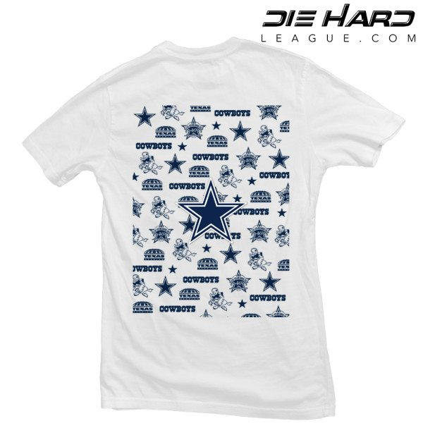 Dallas Cowboys T Shirt Pocket Logo White Tee
