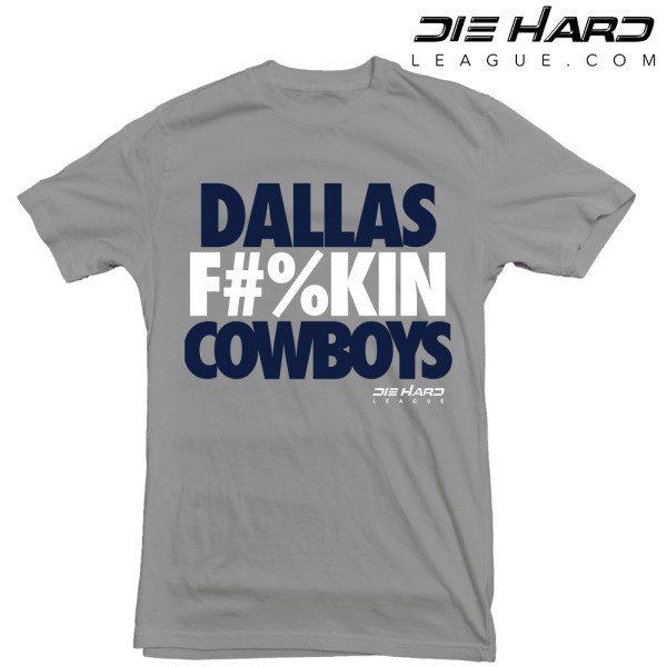 Dallas Cowboys Shirts - Dallas FN Cowboys Gray Tee