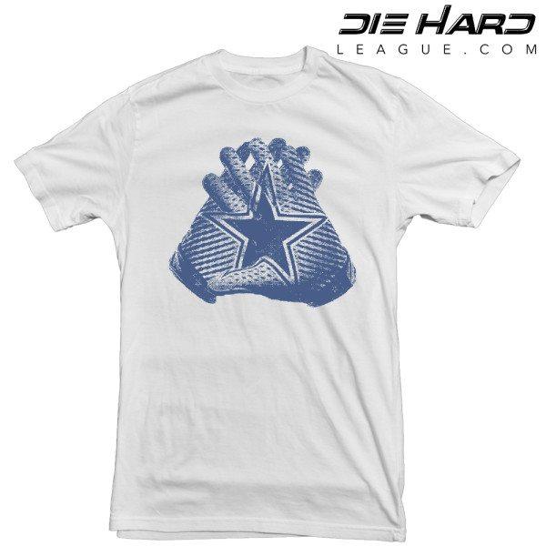 Dallas Cowboy T Shirts - Allstar Hands White Tee