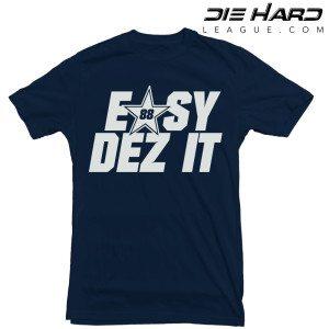 Dallas Cowboys T Shirt Dez Bryant Navy Tee