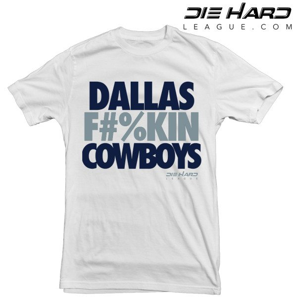 Cowboys T Shirts - Dallas Fn Cowboys White Tee