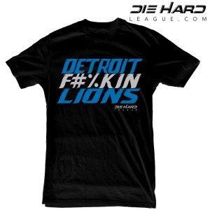 Detroit Lions T Shirt Detroit Fn Lions Black Tee