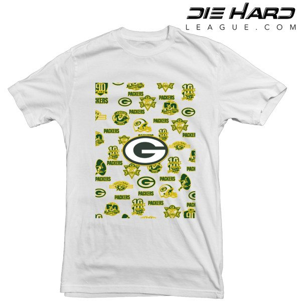 Green Bay Packers T Shirt Logos White tee