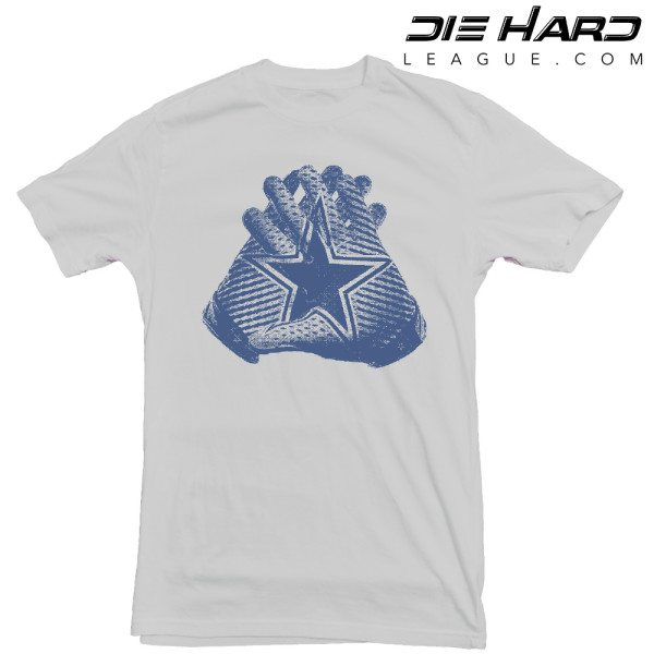 Dallas Cowboys T Shirt AllStar Hands Grey Tee