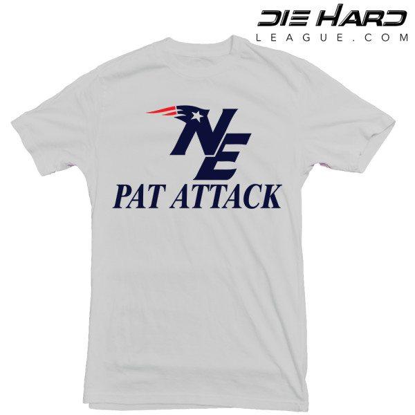 Patriot Shirts - New England Patriots Pat Attack Grey Tee
