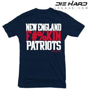New England Patriots T Shirt New England FN Patriots Navy Tee
