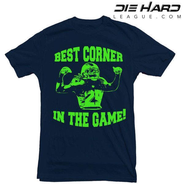 Seattle Seahawks T Shirt Best Corner Navy Tee