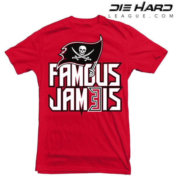 Tampa Bay Buccaneers T Shirt Famous Jameis Red Tee