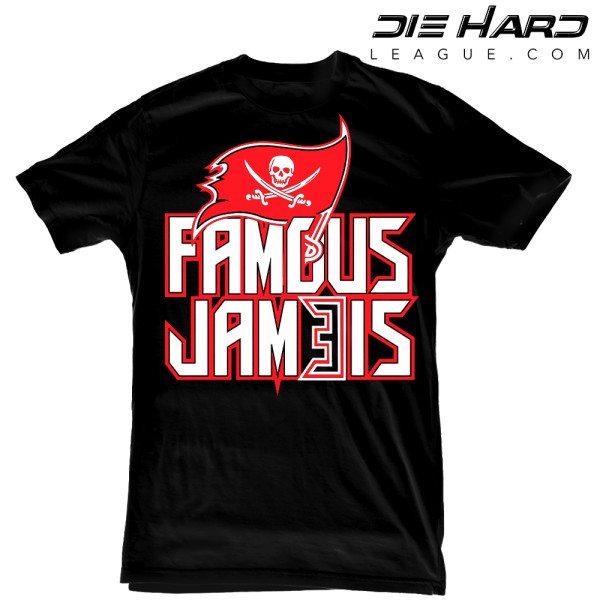 Tampa Bay Buccaneers T Shirt Famous Jameis Black Tee