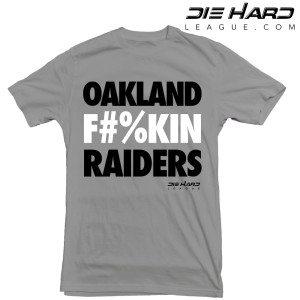 Oakland Raiders T Shirt Oakland Fn Raiders Gray Tee