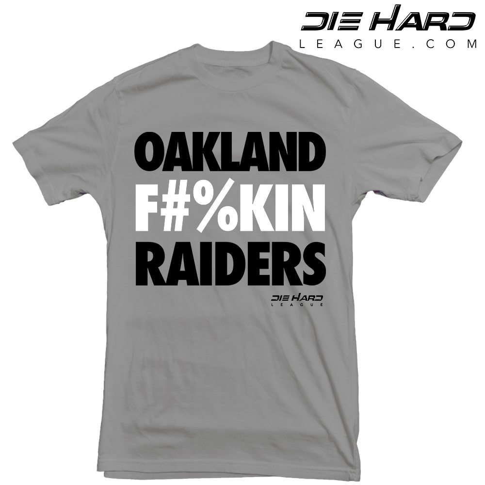 44fef69d059 Raiders Shirt - Oakland Raiders Gray Tee   Best Design