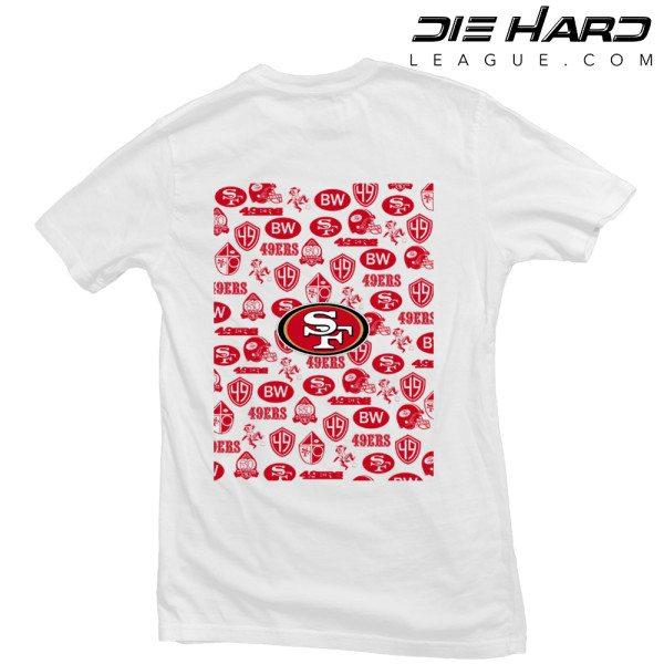 San Francisco 49ers T Shirt Pocket Logo White Tee