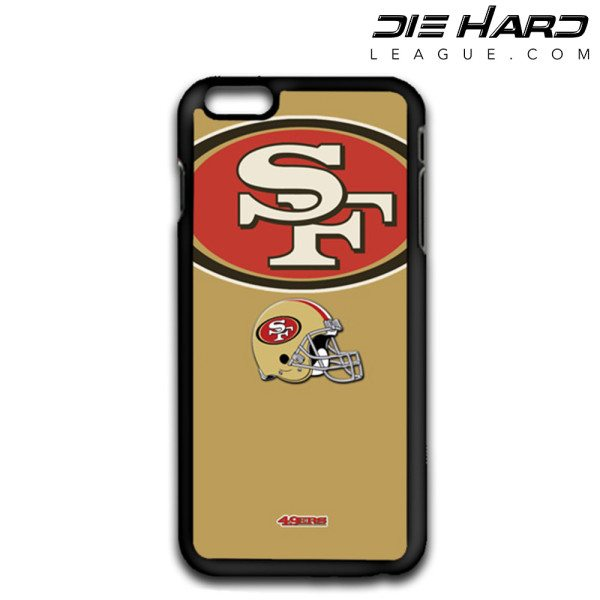 iPhone 6 Cases San Francisco 49ers Logo Helmet Gold Case