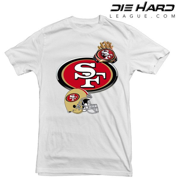 San Francisco 49ers T Shirt White Icons Tee