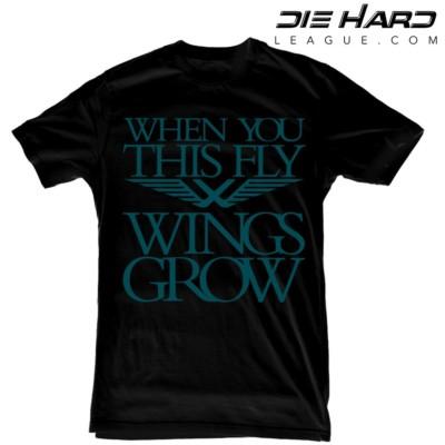 Eagle Shirts - Philadelphia Eagles Wings Grow Black Tee