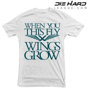 Philadelphia Eagles T Shirt Wings White Tee