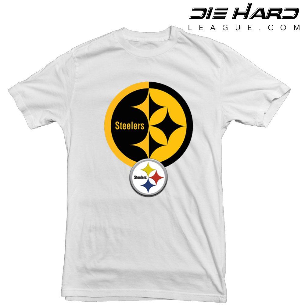 Pittsburgh Steelers T Shirt Logo Icon White Tee 8bf2407ca4ec