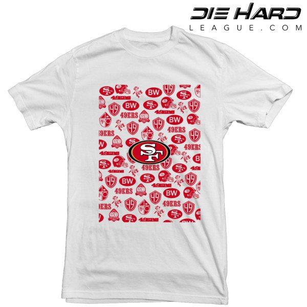 San Francisco 49ers T Shirt Logos White Tee
