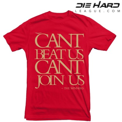 SF 49ers - San Francisco 49ers Cant Join Us Red Tee