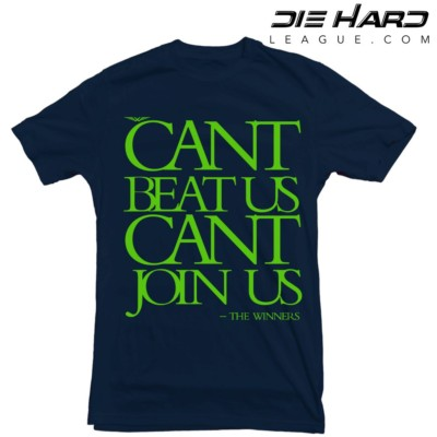 Seahawk T Shirts - Cant Join Us Navy Tee