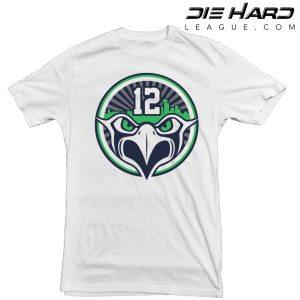 Seattle Seahawks T Shirt 12s White Tee