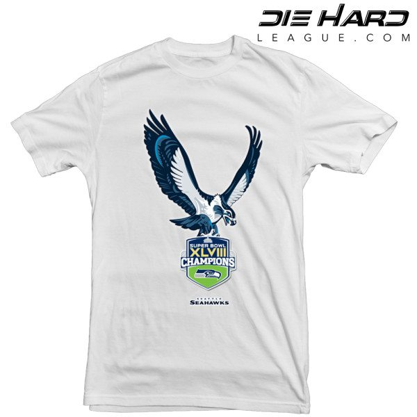 Seattle Seahawks T Shirt Champions White Tee