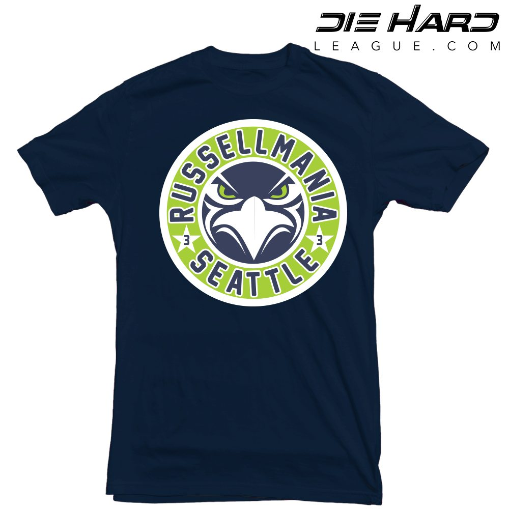 ... Shirts Seattle Seahawks 12 – Seattle Seahawks Russell Wilson Navy Tee.  BACK ... 11a4f9814