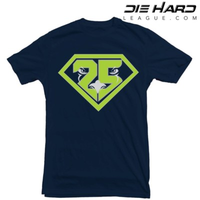 Richard Sherman - Seattle Seahawks Super Sherman Navy Tee