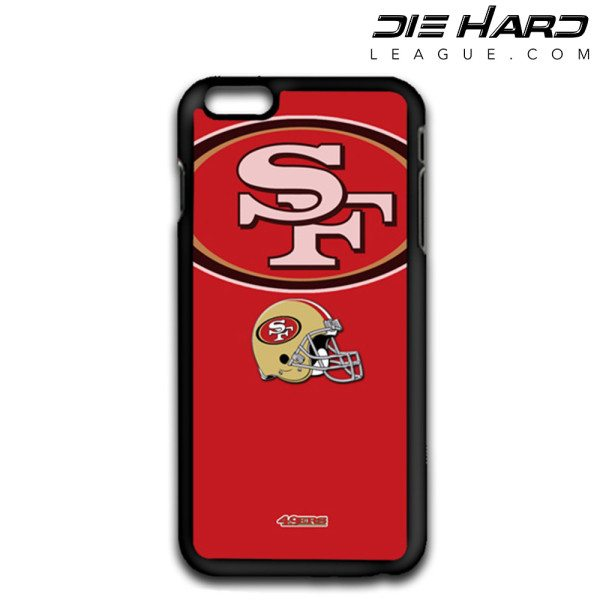 iPhone 6 Cases San Francisco 49ers Logo Helmet Red Case