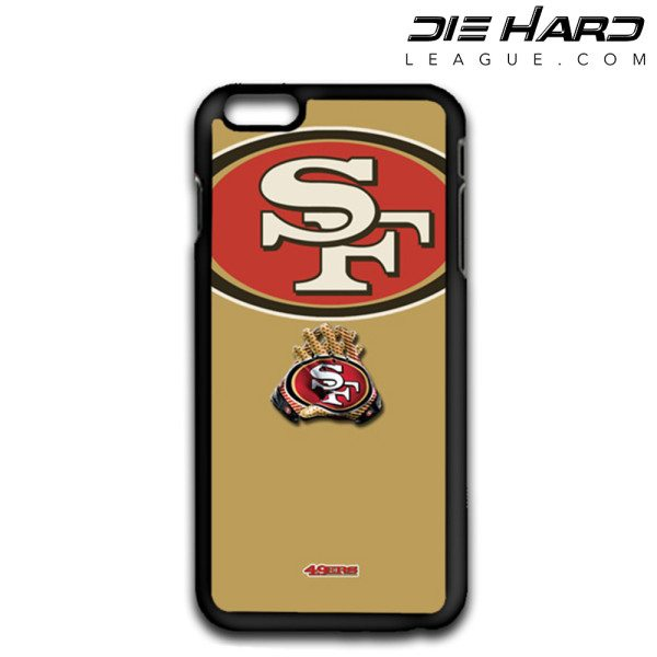 iPhone 6 Cases San Francisco 49ers Logo Gloves Gold Case