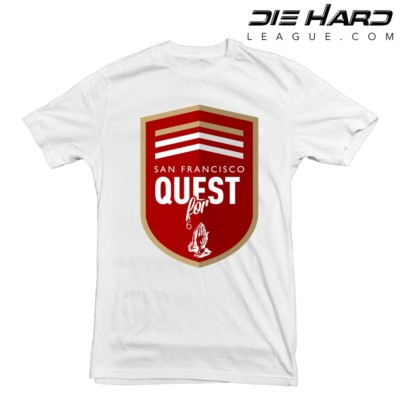 Cool 49ers Shirts - San Francisco 49ers Quest White tee