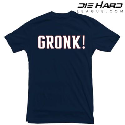 Rob Gronkowski Stats - New England Patriots Gronk Navy Tee