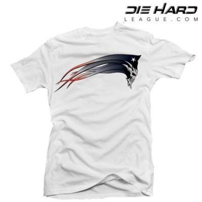 New England Patriots T Shirts - Dark Patriot White Tee