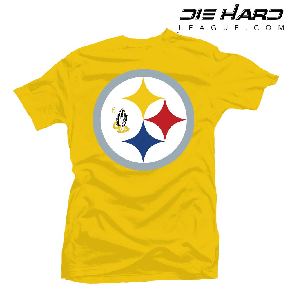 5ab7f485a ... Shirts/Pittsburgh Steelers Tee Shirts – Drake 6 God Yellow Tee. BACK ...