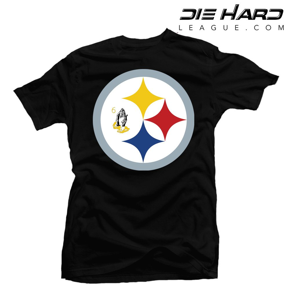 a6779b05236 ... Shirts Pittsburgh Steelers T Shirts Funny – Drake 6 God Black Tee. BACK  ...