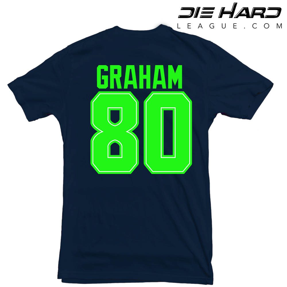 buy popular 0ddc4 c1392 Jimmy Graham Stats – Seattle Seahawks Jimmy Graham Navy Tee