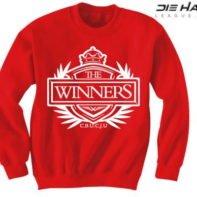 Arizona Cardinals Sweater Winners Crest Red NFL Crewneck