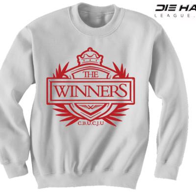 Arizona Cardinals Sweater Winners Crest White NFL Crewneck