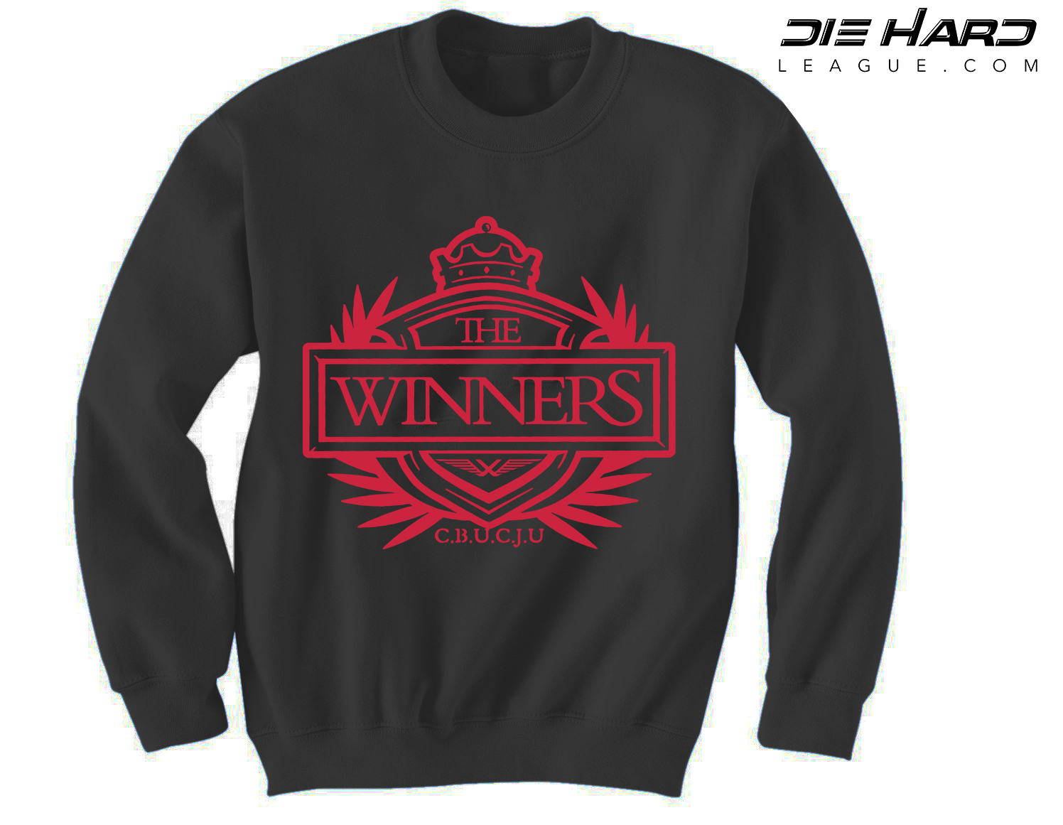 62b96291 Atlanta Falcons Sweatshirts - Winners Crest Black Crewneck