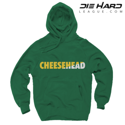 53af3b54b Green Bay Packers Hoodie - Cheese Head Green Hoodie