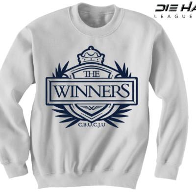 Dallas Cowboys Crewneck Sweatshirt - Winners Crest White Crewneck