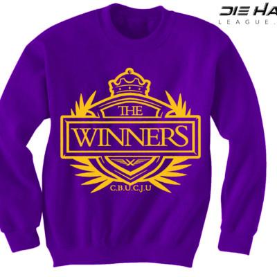 Minnesota Vikings Sweater Winners Crest Purple Crewneck