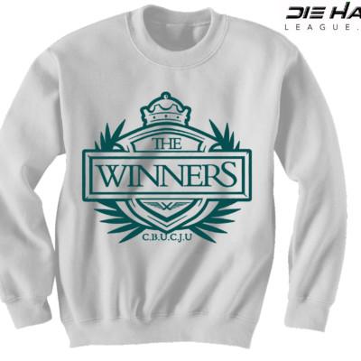 Philadelphia Eagles Sweater Winners Crest White NFL Crewneck